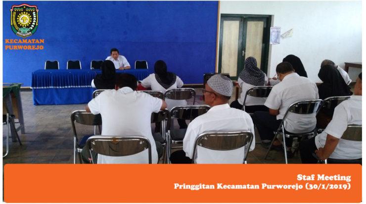 Staf Meeting Kecamatan Purworejo